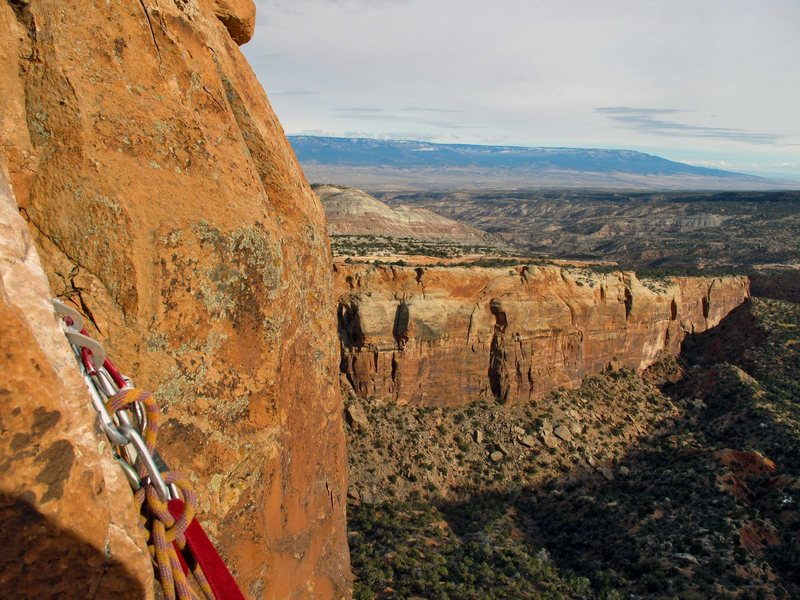 Rock Climbing Photo: The view from the second pitch.