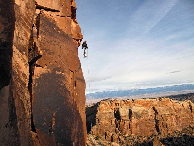 Rock Climbing Photo: Going down.