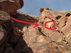 Rock Climbing Photo: On the left is where you come from when doing the ...