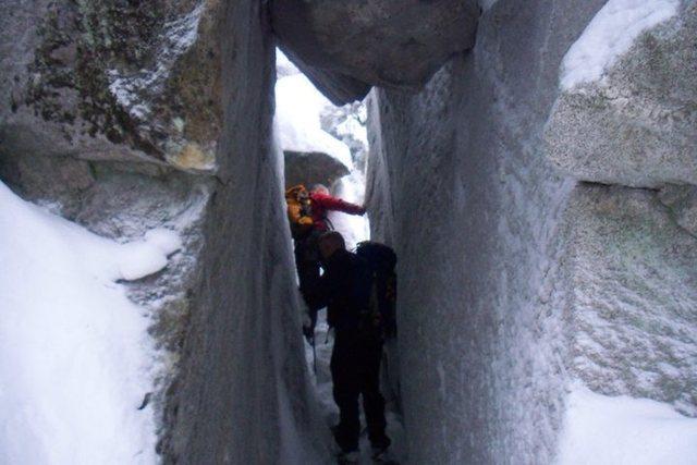 Snowshoeing in L.R Jones state park
