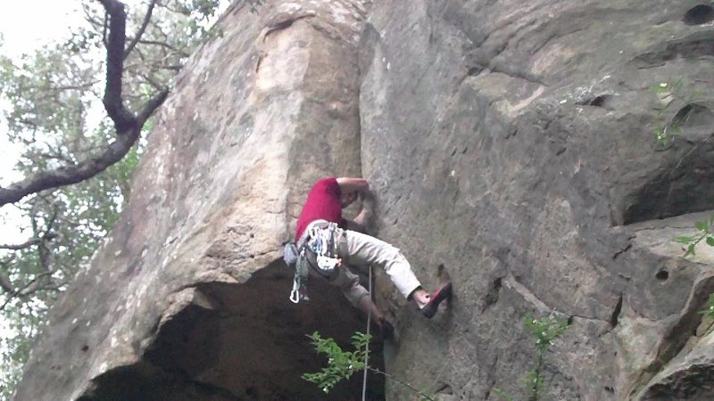 Rock Climbing Photo: crux is even higher yet