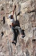 "Rock Climbing Photo: Peter on ""Snow White"". Photo by Blitzo."