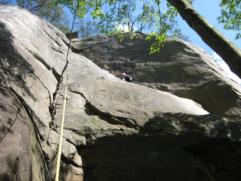 Rock Climbing Photo: steve on (TP). easy trad lead. past tree traverse ...