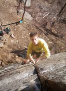 Rock Climbing Photo: Pulling the upper crux
