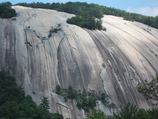 Rock Climbing Photo: broad view of south face showing many of the class...