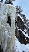 Rock Climbing Photo: Top roping the pillar (2-6-11). All to ourselves o...