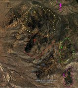Rock Climbing Photo: A Map of the Fremont Butte Areas, it's got north t...