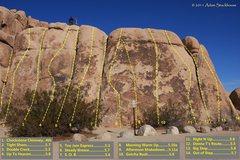 "Rock Climbing Photo: ATS topo of ""Short Wall-Right side"""
