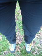 Rock Climbing Photo: tapered legs that fit over dbl boots..