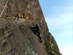 Rock Climbing Photo: Orange Wall Orange Peel 5.8
