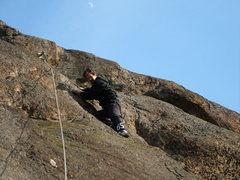 Rock Climbing Photo: Orange Wall Slab Orange Peel 5.8