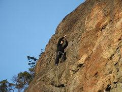 Rock Climbing Photo: Orange Wall Gator 5.10a