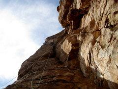 Rock Climbing Photo: Dale on Sunny side Up
