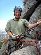 Rock Climbing Photo: Frank enjoying the belay at the top of Mouse Maze....