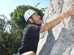 Rock Climbing Photo: Kelly at the base of Sunnyside getting ready to ma...