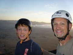Rock Climbing Photo: John & Brian on top of the Hikers Summit after sen...