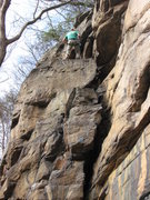 Rock Climbing Photo: liz cruising on her first lead!
