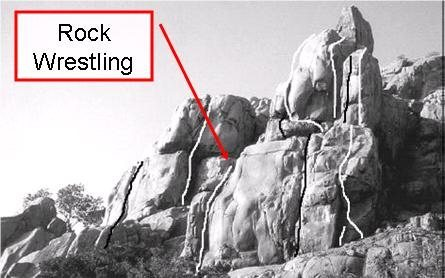 Rock Climbing Photo: Less then appealing line that is Rock Wrestling