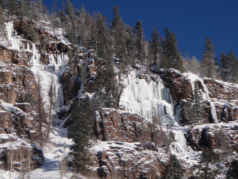 Ice on Mirror Lake Hwy
