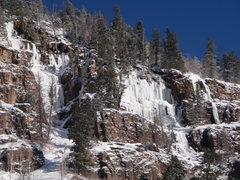 Rock Climbing Photo: Ice on Mirror Lake Hwy