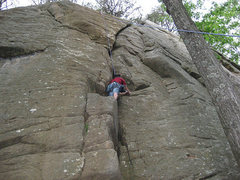 Rock Climbing Photo: Curving Crack