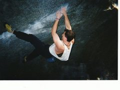 Rock Climbing Photo: Tendons Give, V6. Yosemite Valley. Great warm up, ...