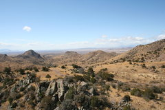 Rock Climbing Photo: Looking south southeast from the hill across from ...