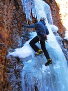 Rock Climbing Photo: Just a touch of cobble on Ice Hawk.