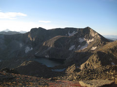 Rock Climbing Photo: Cracktop, Chief Cheley, and Azure Lake from the sa...