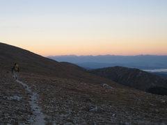 Rock Climbing Photo: Wes approaching at sunrise.