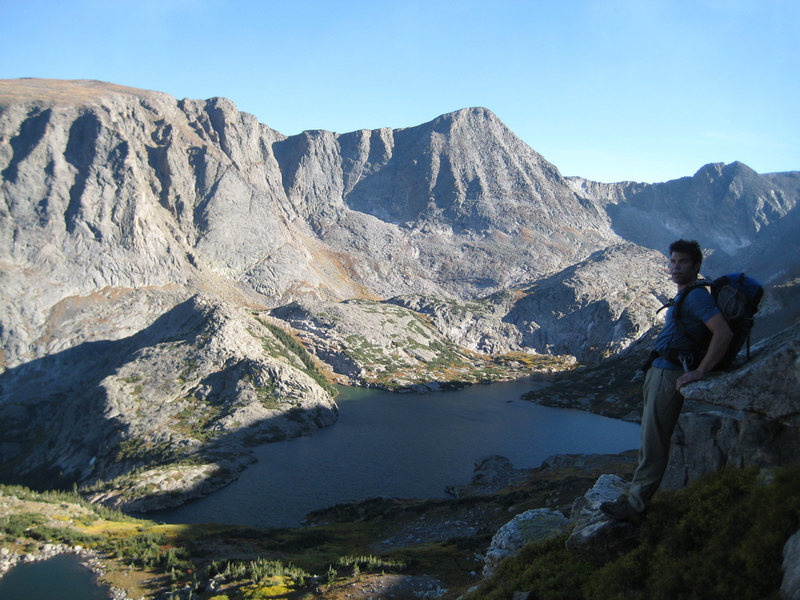Rock Climbing Photo: Mitch and Arrowhead Lake, Mount Julian is front an...