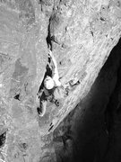 Rock Climbing Photo: Myself following P1.  Photo by A. Badeau.