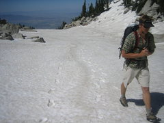Rock Climbing Photo: 45L WorkSack w/o lid on day-trip into Lone Peak Ci...