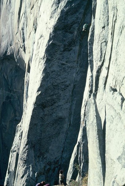 Rock Climbing Photo: November Ascent, 1977 First Pitch  Weathered a fer...
