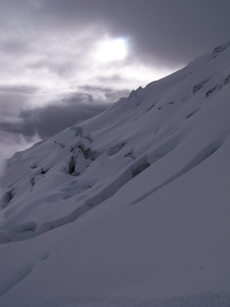 Rock Climbing Photo: Crevasse field on Cotopaxi 5896 m(19,344 ft)