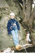 "Rock Climbing Photo: At the base of ""Aunt Fanny's Pantry"" 5.4..."