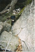 Rock Climbing Photo: It was cold and very damp, but Britts wanted to go...