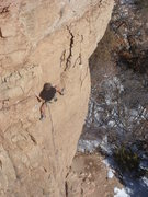 Rock Climbing Photo: Bruce on the traverse.