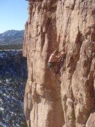 Rock Climbing Photo: Bruce working Early Bird.