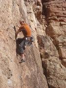 Rock Climbing Photo: Craig workin' the crack on Six More Bottles of Bas...