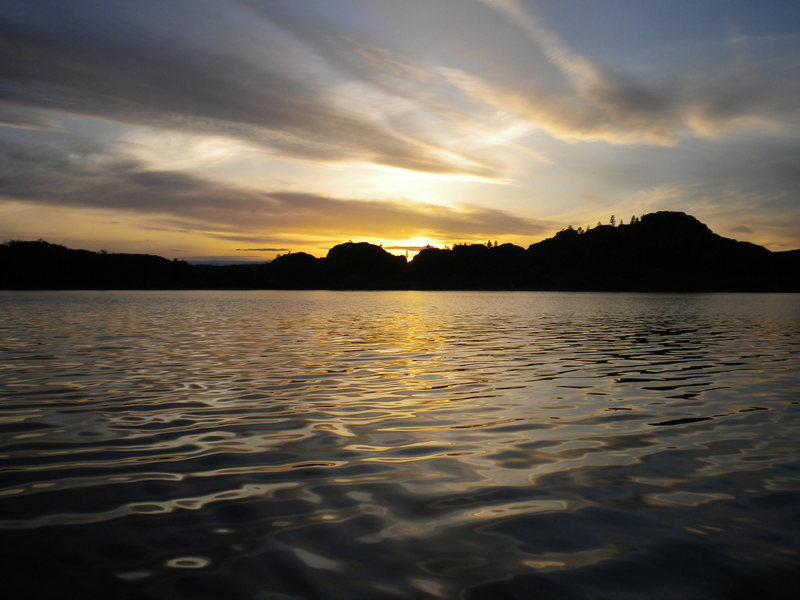Rock Climbing Photo: Sunset on Banks Lake after a great day of climbing...