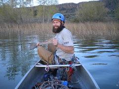 Rock Climbing Photo: Joe and I found de-harnessing in the canoe to be i...