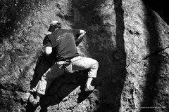 Rock Climbing Photo: Jon getting started on Super B
