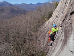 Rock Climbing Photo: Greenville local Rob Rogers, cruxing on Toads Are ...