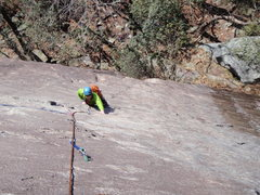 Rock Climbing Photo: Local Rob Rogers cruising up P1 of Toads Are Us
