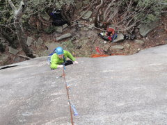 Rock Climbing Photo: Local Greenville climber Rob Rogers coming up the ...