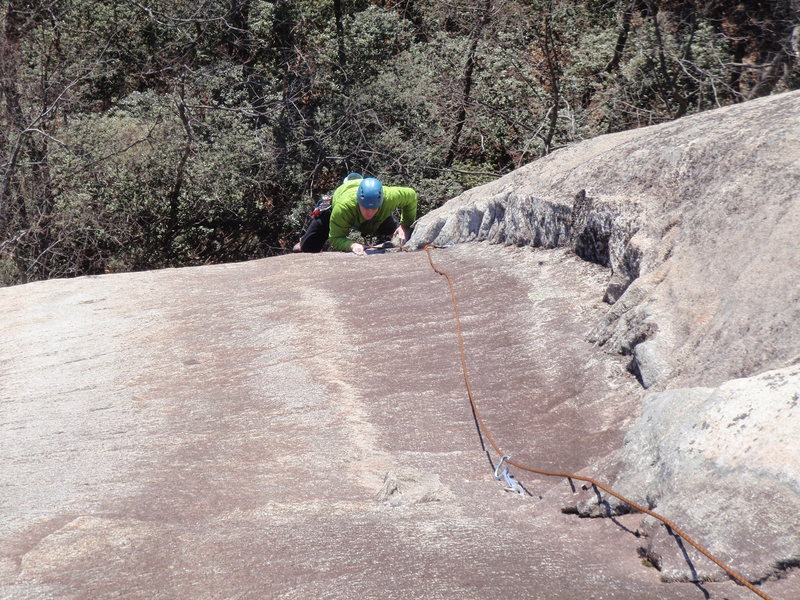 Rock Climbing Photo: Rob Rogers climbing into the upper corner of P@ on...