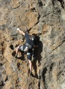 Rock Climbing Photo: Vaino working way up past the crux.