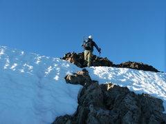 Rock Climbing Photo: Craig Dixon gaining the Notch