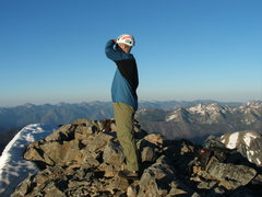 Rock Climbing Photo: Craig Dixon on the summit of Mt. Maude